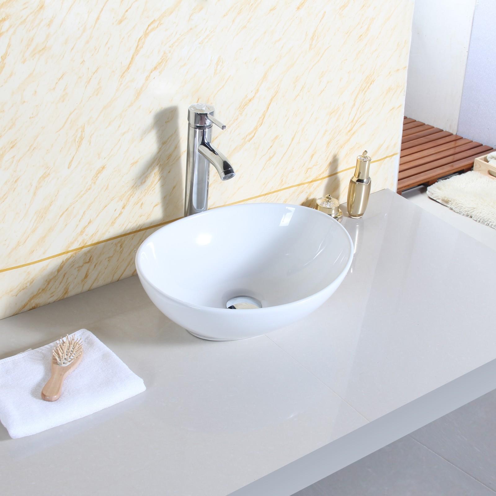 Oval modern design bathroom ceramic counter top wash basin for Best wash basin design